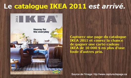 concours ikea capturez la page 10 000 gagner egq. Black Bedroom Furniture Sets. Home Design Ideas