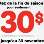Rabais BIXI – Seulement 30$ pour la fin de saison