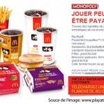 Concours Monopoly McDonalds 2010