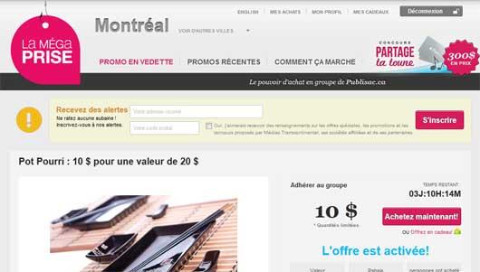 La mega prise - Achat de groupe au Québec