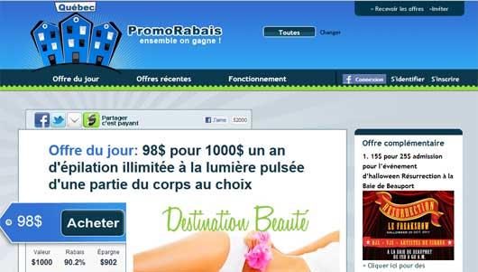 Promo Rabais - Achats groupés 100% québec