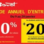 Vente d'entrepôt annuel Bovet
