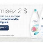 2$ de rabais savon Dove