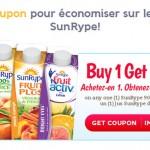 Jus SunRype gratuit à l'achat d'un autre (900ml)