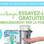 Pompe à savon Lysol No-Touch Gratuite