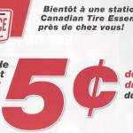 Solde d'essence Canadian Tire 5¢/litre