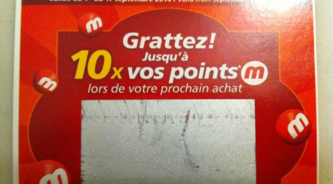10 x les points M chez Métro