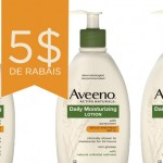 Coupon rabais Aveeno de 5$