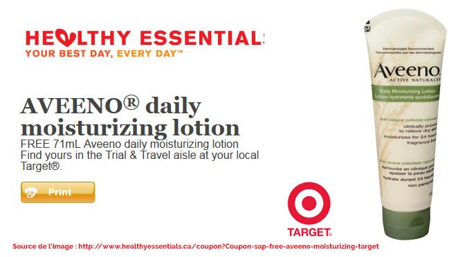 Offre de Crème Aveeno gratuit chez Target par Hearthy Essential