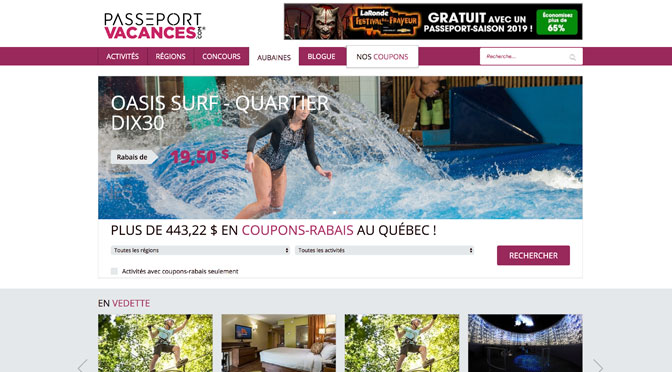 Coupons Passeport Vacance