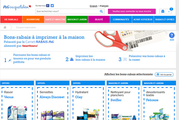 P&G au qutidien coupons