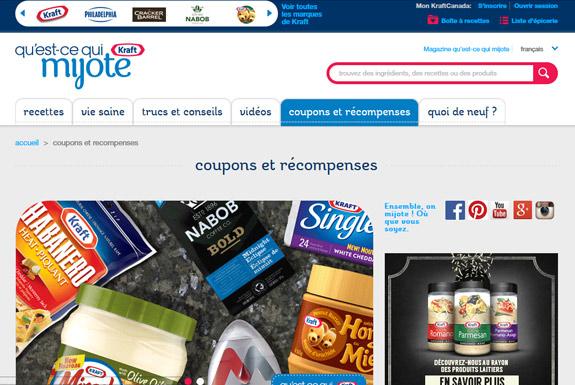 Portail de coupon Kraft