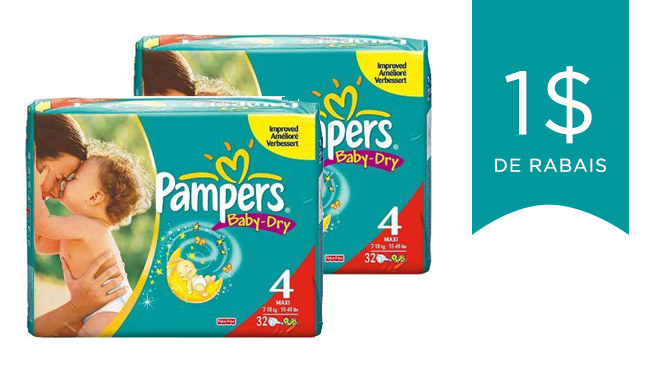 coupons rabais pour couches pampers