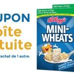 Céréales Mini-wheats : Coupon achetez en 1, recevez en 1 gratuit