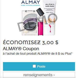 Maquillage Amway coupon rabais de 3$