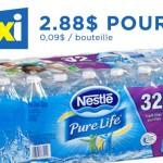 32 bouteilles d'eau Nestle Pure Life  pour 2.88$