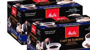 Coupon cafe melitta en dosette individuelle