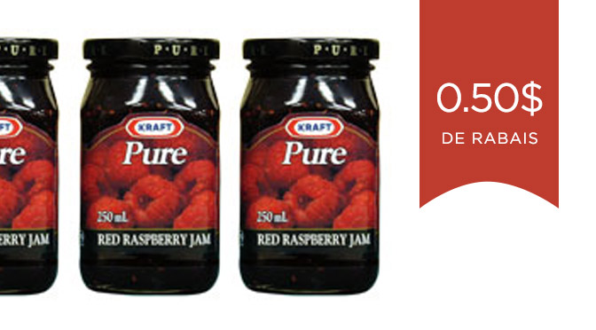 coupon rabais confiture Kraft