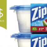 Coupons rabais sur des contenants de marque Ziploc de 2$