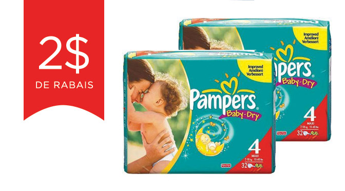 Coucpons rabais pampers