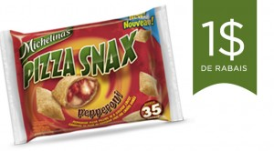 Coupon rabais Michelinas Pizza Snax