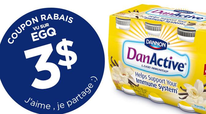 coupon rabais Dan active