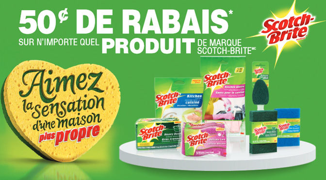 coupons-rabais de 50 cent Scotch brite