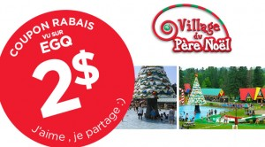 Coupon rabais village du pere noel 2015