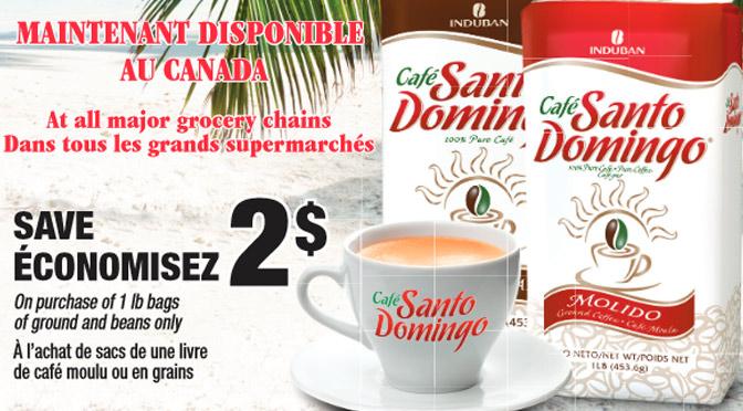 Coupon rabais Santo Domingo de 2$ sur le café