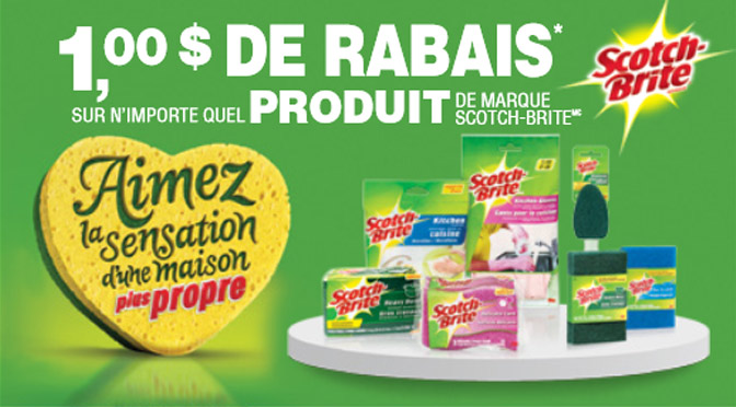coupon rabais Scotch Brite de 1$
