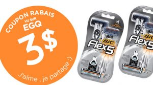 coupon rbais Bic Flex 5 Hybrid