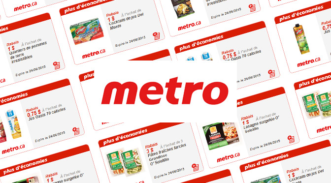 Coupon rabais Metro