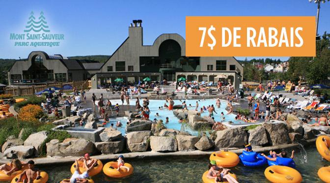 coupons-rabais Mont-Saint Sauveur Parc aquatique