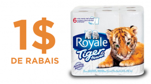 Coupon rabais royale tiger