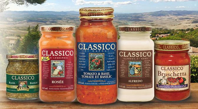 Pot de sauce classico varier avec coupon