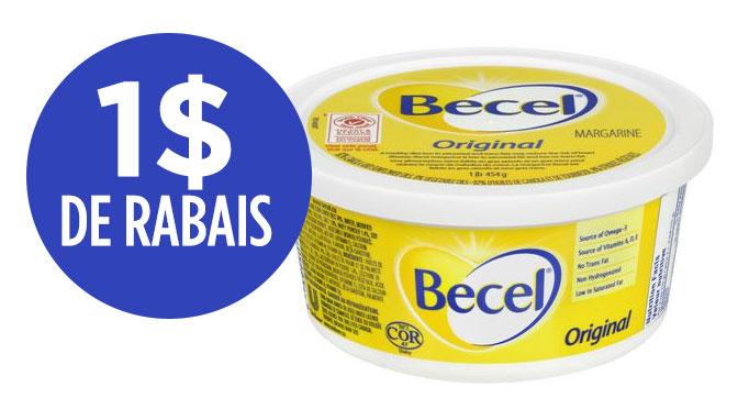 coupon rabais Becel de 1$