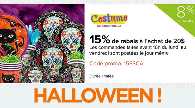 Offre costume d'halloween