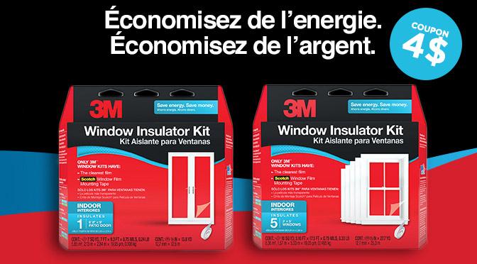 coupon 3m pour isolation des fenêtres