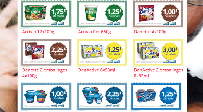 Coupon 15$ Danone