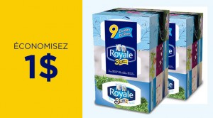 Coupon 1$ sur mouchoir Royale