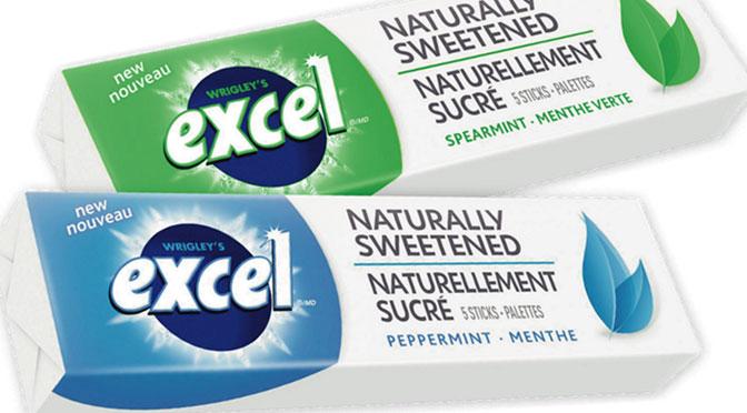 Terminé:Paquet de gomme gratuit Excel Naturellement Sucré