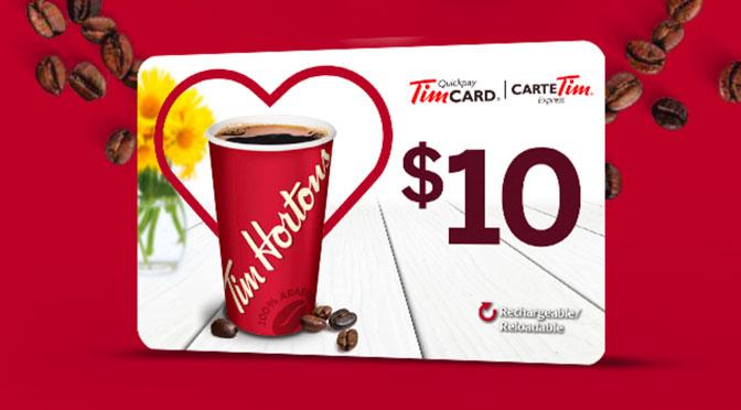 Carte-cadeaux Tim-Horton gratuite