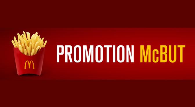 Promotion McBut Frite gratuite