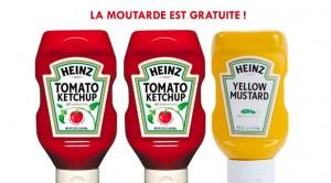 Moutarde et Ketchup Heinz