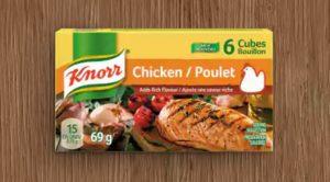 Échantillon gratuit bouillon de poulet knorr