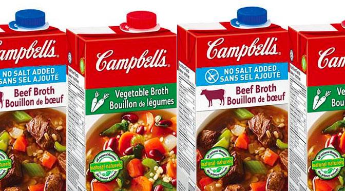 Bouillon Campbell's gratuit B3G1