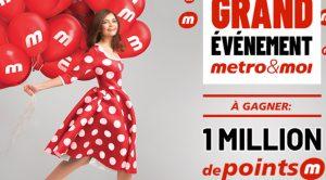 Concours Million de point M Metro et Moi